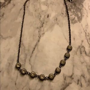 Women's rhinestone necklace and earrings